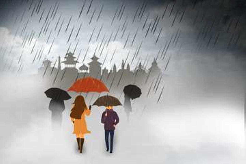 नेपालमा तीन दिन वर्षा हुने , सतर्कता अपनाउन आग्रह